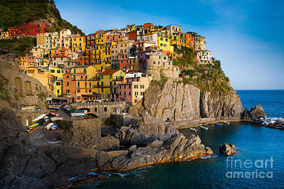 Colorful Photograph - Manarola by Inge Johnsson