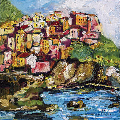 Painting - Manarola Italy Cinque Terre by Ginette Callaway
