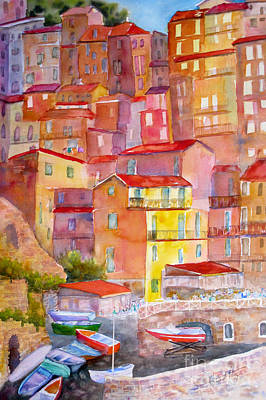 Mohamed Painting - Manarola Italy by Mohamed Hirji