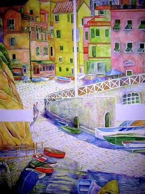 Painting - Manarola by Kandy Cross