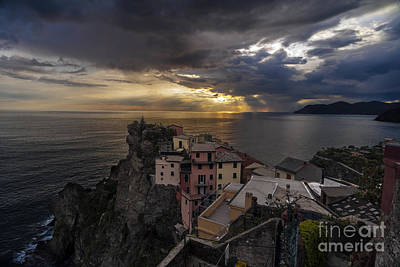 - Manarola Sunset Storm by Mike Reid