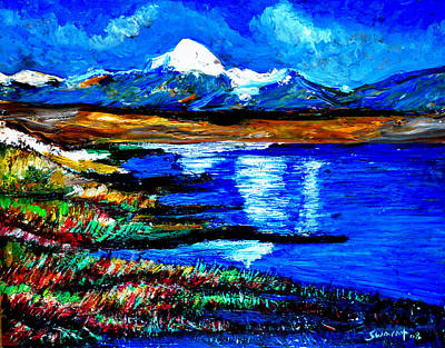 Painting - Manas Sarovr Lake-18 by Anand Swaroop Manchiraju