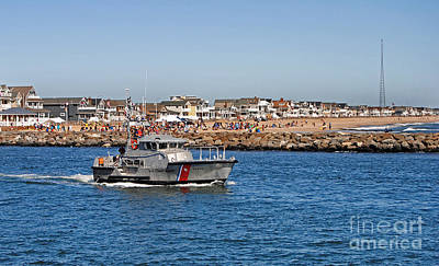 Nj Photograph - Manasquan Inlet Coast Guard by Skip Willits