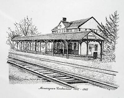 Manasquan Train Station Art Print