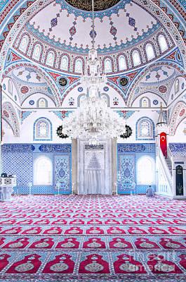 Persian Carpet Photograph - Manavgat Mosque Interior 01 by Antony McAulay