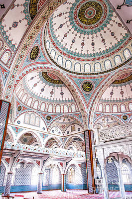 Manavgat Mosque Interior 02 Art Print by Antony McAulay