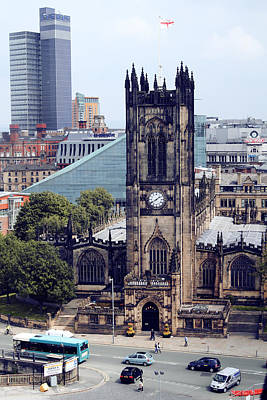 Manchester Cathedral Art Print by Anthony Bean
