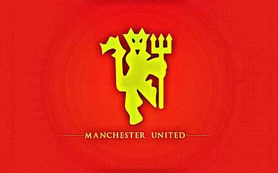Painting - Manchester United Football Club Poster by Florian Rodarte