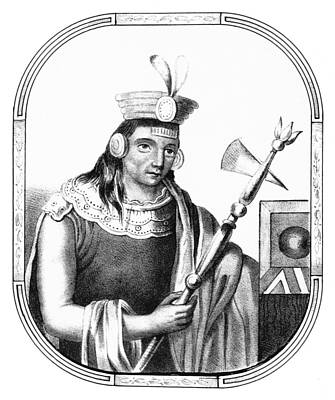 Manco C�pac, Founder Of Inca Art Print by British Library