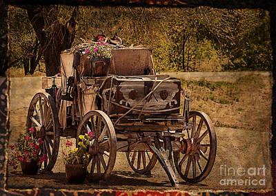 Mancos Flower Wagon Art Print by Janice Rae Pariza