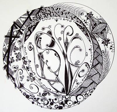 Lori Thompson Drawing - Mandala #1 by Lori Thompson