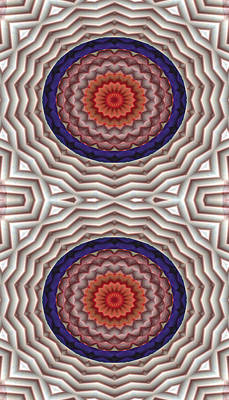 Psychedelic Digital Art - Mandala 10 For Iphone Double by Terry Reynoldson