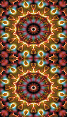 Mandala 102 For Iphone Double Art Print by Terry Reynoldson