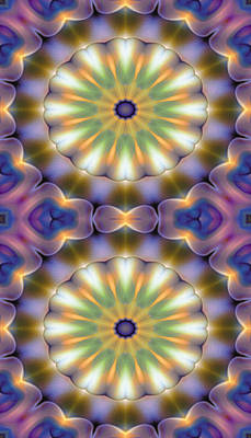 Metaphysical Digital Art - Mandala 105 For Iphone Double by Terry Reynoldson