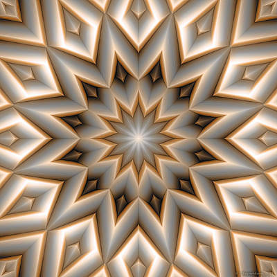 Holy Digital Art - Mandala 107 Orange by Terry Reynoldson