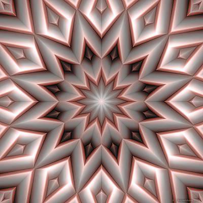 Uplifting Digital Art - Mandala 107 Red by Terry Reynoldson