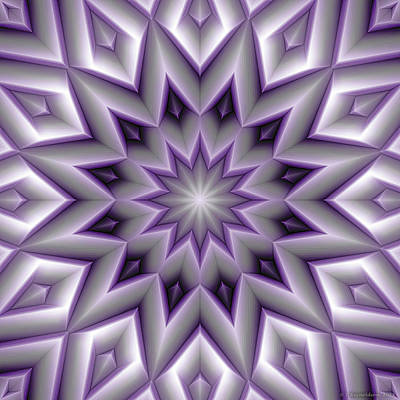 Cosmos Digital Art - Mandala 107 Violet by Terry Reynoldson