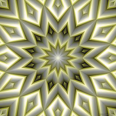 Mandala 107 Yellow Art Print