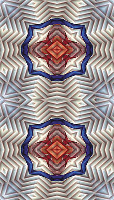 Metaphysical Digital Art - Mandala 11 For Iphone Double by Terry Reynoldson