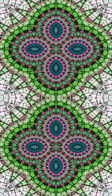 Metaphysical Digital Art - Mandala 111 For Iphone Single by Terry Reynoldson