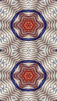 Psychedelic Digital Art - Mandala 12 For Iphone Double by Terry Reynoldson