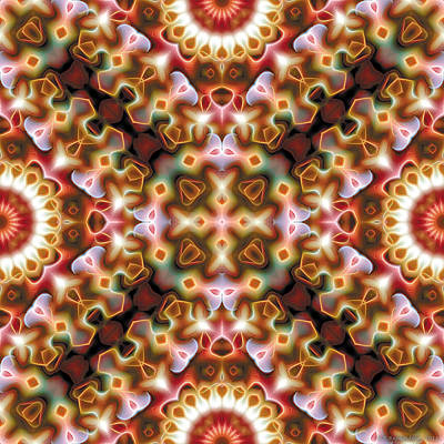 Uplifting Digital Art - Mandala 121 by Terry Reynoldson