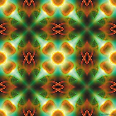 Relaxing Digital Art - Mandala 134 by Terry Reynoldson