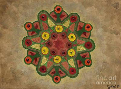 Chakra Painting - Mandala 2134 by Julia Stubbe