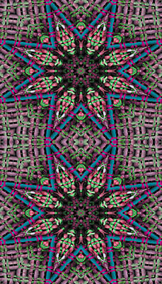 Metaphysical Digital Art - Mandala 31 For Iphone Double by Terry Reynoldson
