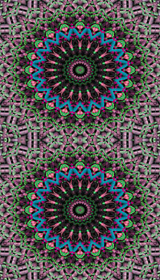 Mandala 33 For Iphone Double Art Print by Terry Reynoldson