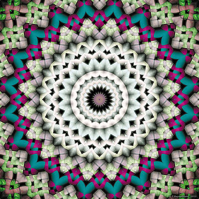 Contemplative Digital Art - Mandala 36 by Terry Reynoldson