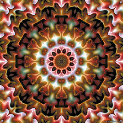 Uplifting Digital Art - Mandala 69 by Terry Reynoldson