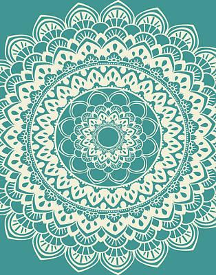 Henna Painting - Mandala 7 by Tamara Robinson