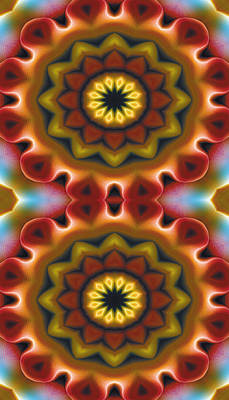 Cosmos Digital Art - Mandala 75 For Iphone Double by Terry Reynoldson