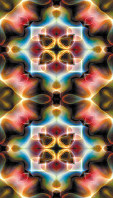 Restful Digital Art - Mandala 77 For Iphone Double by Terry Reynoldson