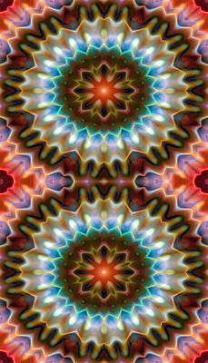 Psychedelic Digital Art - Mandala 79 For Iphone Double by Terry Reynoldson