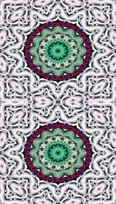 Mandala 8 For Iphone Double Art Print by Terry Reynoldson