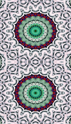 Psychedelic Digital Art - Mandala 9 For Iphone Double by Terry Reynoldson