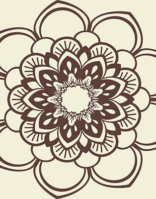 Henna Painting - Mandala 9 by Tamara Robinson