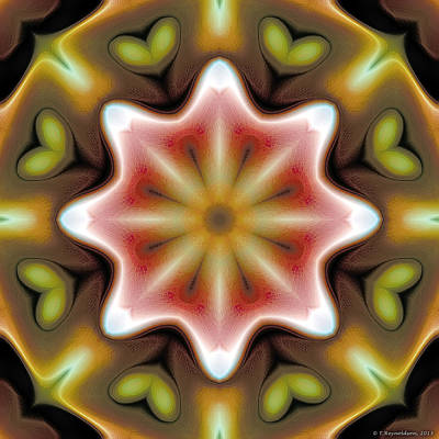 Restful Digital Art - Mandala 93 by Terry Reynoldson