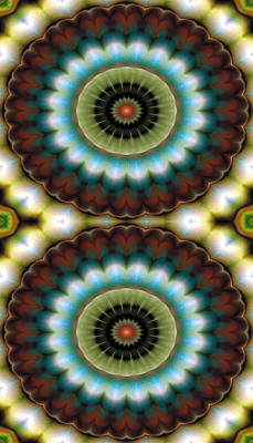 Beautiful Digital Art - Mandala 99 For Iphone Double by Terry Reynoldson