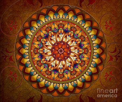 Mandala Ararat V1 Sp Print by Bedros Awak