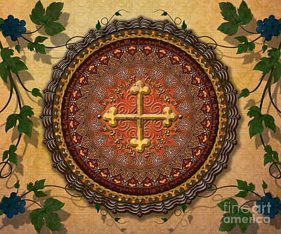 Mandala Armenian Cross Sp Art Print by Bedros Awak