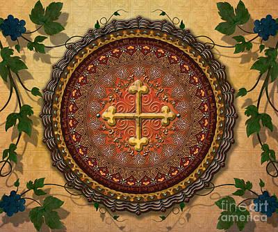 Mandala Armenian Cross Sp Print by Bedros Awak