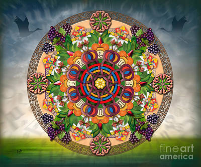Mandala Armenian Grapes - Sp Art Print