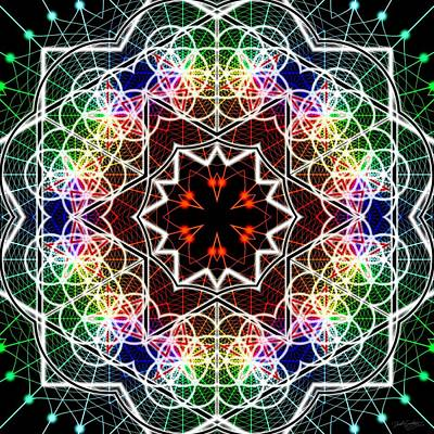 Digital Art - Mandala Cage Of Light by Derek Gedney