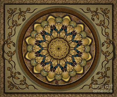 Earth Tones Mixed Media - Mandala Earth Shell Sp by Bedros Awak