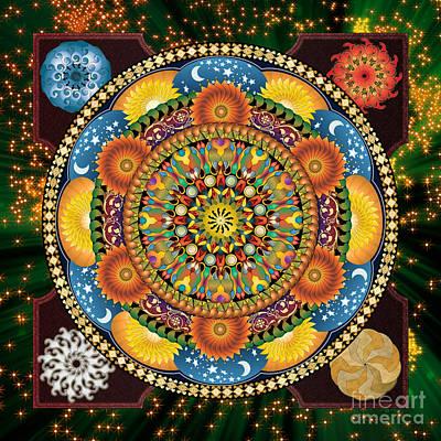 Cosmic Mixed Media - Mandala Elements by Bedros Awak