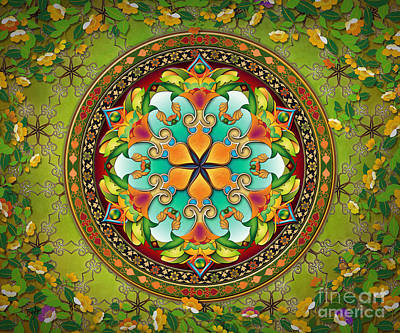 Mandala Evergreen Sp Art Print