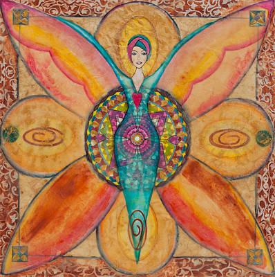 Chakra Painting - Mandala For Courage by Cheryl Irwin